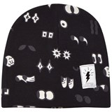 Civiliants Black All-Over Print Jersey Beanie