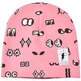 Civiliants Pink Allover Print Jersey Beanie