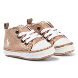 Ralph Lauren Pink Shimmer Crib Shoes