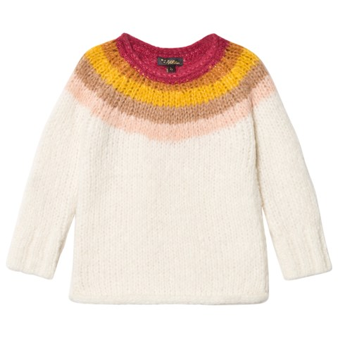 Velveteen Cream and Multi Romy Jumper