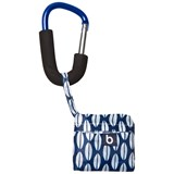 Bounty Boutique Blue Foldable Shopping Bag with Blue Clip