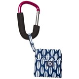 Bounty Boutique Blue Foldable Shopping Bag with Pink Clip