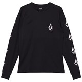 Volcom Black Deadly Stone Logo Long Sleeve Tee