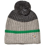 Paul Smith Junior Grey Marl Logo Reflective Pom Pom Beanie