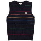 Paul Smith Junior Navy Multi Stripe Knit Vest