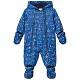 Paul Smith Junior Navy Bicycle Print Padded Snowsuit with Detachable Mittens and Booties