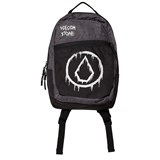 Volcom Black and Grey Branded Backpack