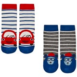 Joules 2 Pack of Blue Car and Bear Socks