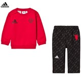adidas Red and Black Infant Man U Sweater and Sweatpants Set