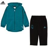 adidas Teal and Black Infant Real Madrid Hoodie and Sweatpants Set