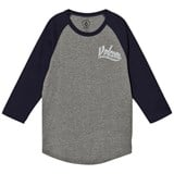 Volcom Navy Swift 3/4 Sleeve Raglan Tee