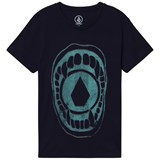 Volcom Navy Chew Skull Mouth Graphic Tee