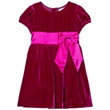 Rachel Riley Pink Velvet Bow Dress