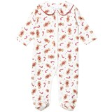 Rachel Riley Cream Gingerbread Man and Candy Cane Print Babygrow