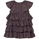 Velveteen Purple Josephine Tiered Dress