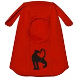 Mini Rodini Red Panther Wool Balaclava