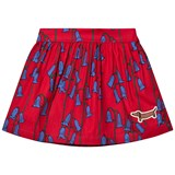 Mini Rodini Red Bluebell Woven Skirt