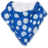 Noe & Zoe Berlin Blue Snow Printed Dribble Bib