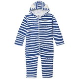 Noe & Zoe Berlin Blue Stripes Ear Hooded All In One