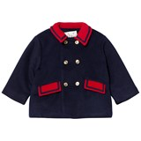 Rachel Riley Navy and Red Coat with Gold Buttons