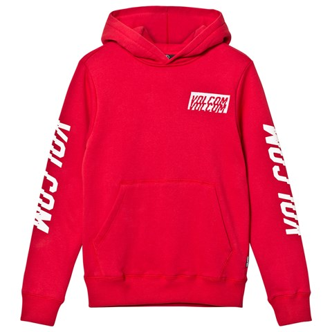 Volcom Red Supply Stone Branded Arms Pull Over Hoodie