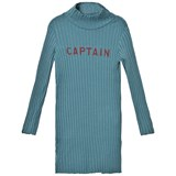 Bobo Choses Blue Captain Turtleneck Dress