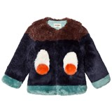 Bobo Choses Faux Fur Eye Print Jacket