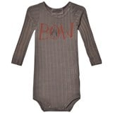 Bobo Choses Grey Bow and Stern Long Sleeve Body