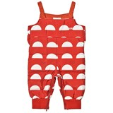 Bobo Choses Red Padded Crests Dungarees