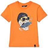 Animal Orange Graphic Skate T-Shirt