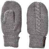 Mini A Ture Grey Melange Wool Celin Mittens