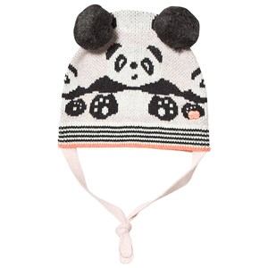 THE BONNIE MOB | The Bonnie Mob The Bonnie Mob Pale Pink Panda Jaquard Hat With Pom Pom Ears 0-6 Months | Goxip