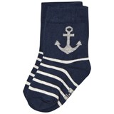 Melton Babysock - Anchor & Stripes Navy