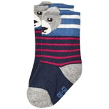 Melton Babysock - Bear W/Ears Navy