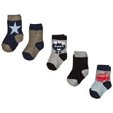 Melton Numbers 5-Pack Socks - Boys Navy