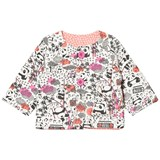 The Bonnie Mob Reversible Padded Baby Jacket, Aop Print Panda Print Pinks