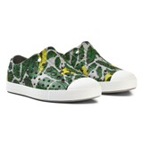 Native Grey Leaf Print Jefferson Rubber Trainers