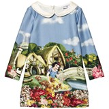 Monnalisa Snow White Print Jersey Dress with Collar