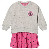 Kenzo Kids Grey Two-in-One Eye Print Sweat and Skirt Set