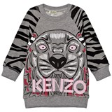 Kenzo Kids Grey Tiger Print Sweat Dress
