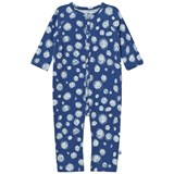 Noe & Zoe Berlin Blue Snow Printed Footless Babygrow