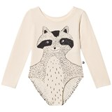 Noe & Zoe Berlin Black Racoon Printed Front and Back Leotard