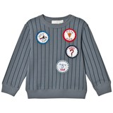 Stella McCartney Kids Blue Stripe Badge Biz Sweatshirt