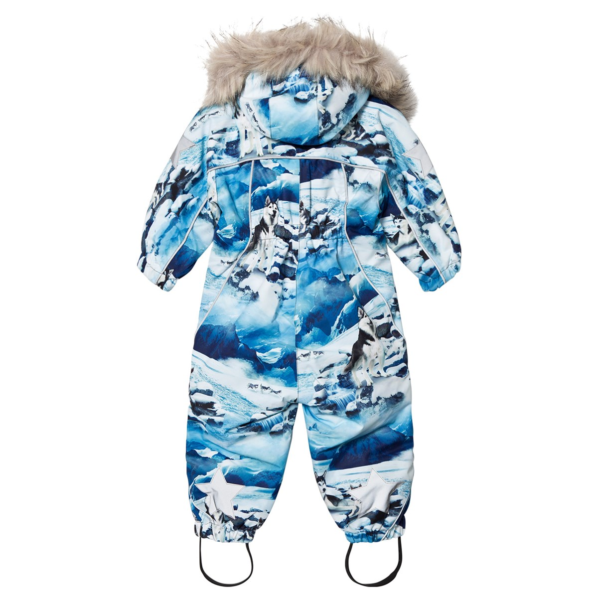 c7094bbc80cd Molo Mountain Print Pyxis Fur Baby Snowsuit