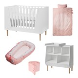 Done by Deer Pink and White Baby Nursery Set