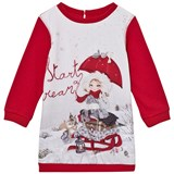 Mayoral Red Snow Girl Print Sweat Dress
