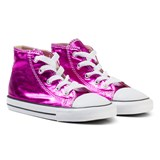 Converse Metallic Pink Chuck Taylor All Star Hi Tops