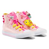 Converse Pink Chuck Taylor All Star Emoji Energy Loophole Hi Tops