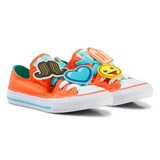 Converse Orange Chuck Taylor All Star Emoji Energy Loophole Trainers