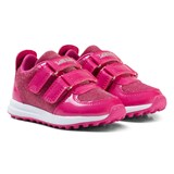 Lelli Kelly Pink Patent Colourissima Low Velcro Trainers with interchangable Charm